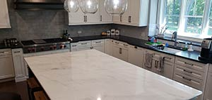 Quartzite: Super White quartzite countertops Kitchen 2018 white cabinets