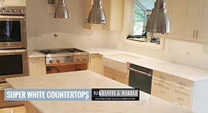 Quartzite: custom kitchen in super white