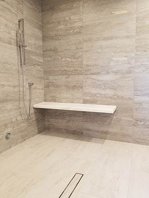 Quartzite: custom stone shower